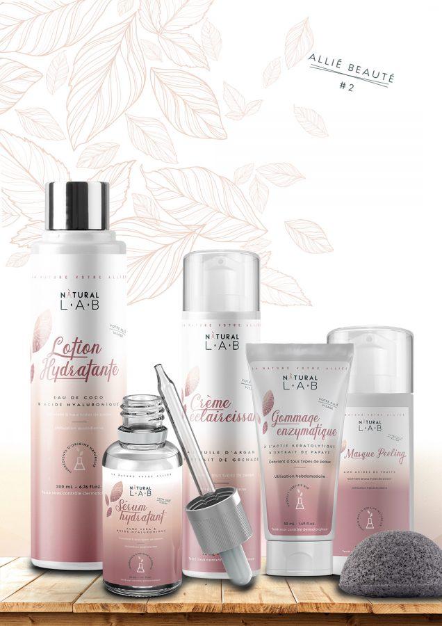 Coffret gamme cosmétique soins visage naturels bio