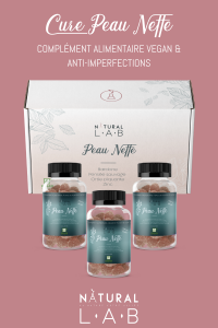 Compléments alimentaires vegan anti imperfections